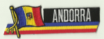 Andorra Embroidered Flag Patch, style 01.